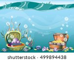 cartoon vector underwater...   Shutterstock .eps vector #499894438