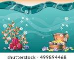 cartoon vector underwater...   Shutterstock .eps vector #499894468