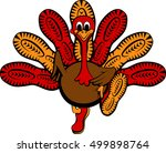 thanksgiving turkey with soles...   Shutterstock .eps vector #499898764