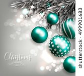 christmas invitation with... | Shutterstock .eps vector #499901683