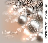 christmas invitation with... | Shutterstock .eps vector #499902250