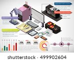 illustration of info graphic... | Shutterstock .eps vector #499902604