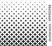 black and white greek cross... | Shutterstock .eps vector #499902988