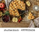 fresh baked delicious classic... | Shutterstock . vector #499903636