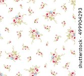 seamless floral pattern with... | Shutterstock .eps vector #499904293