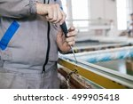 factory for aluminum and pvc... | Shutterstock . vector #499905418
