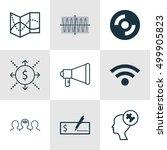 set of 9 universal editable... | Shutterstock .eps vector #499905823
