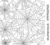 halloween spider web seamless... | Shutterstock .eps vector #499906900