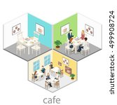 isometric interior of coffee... | Shutterstock .eps vector #499908724