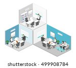 isometric interior of director... | Shutterstock .eps vector #499908784