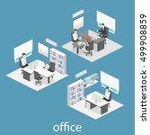 isometric interior of director... | Shutterstock .eps vector #499908859
