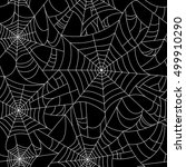 halloween spider web seamless... | Shutterstock .eps vector #499910290