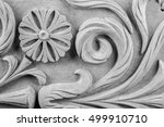 gypsum plaster ornaments on a... | Shutterstock . vector #499910710