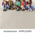 girls friendship togetherness... | Shutterstock . vector #499912690