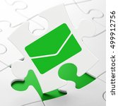 business concept  email on... | Shutterstock . vector #499912756