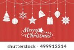 hand crafted paper christmas... | Shutterstock .eps vector #499913314