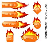 burning with fire design sale... | Shutterstock .eps vector #499917220