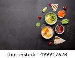 colorful vegetarian snacks ... | Shutterstock . vector #499917628