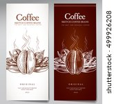 a set of two of coffee in the... | Shutterstock .eps vector #499926208