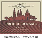 wine labels set with a... | Shutterstock .eps vector #499927510