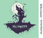 halloween illustration. the... | Shutterstock .eps vector #499927828