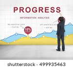business data growth report... | Shutterstock . vector #499935463