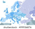 europe high detailed vector...   Shutterstock .eps vector #499936876