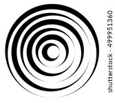 concentric circles w dynamic... | Shutterstock .eps vector #499951360