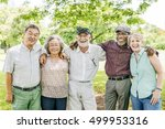 group of senior retirement... | Shutterstock . vector #499953316