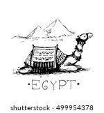 egypt sketch. vector... | Shutterstock .eps vector #499954378