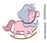 cute horse toy | Shutterstock .eps vector #499955563