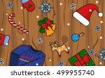 winter christmas illustration.... | Shutterstock .eps vector #499955740