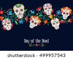 day of the dead illustration... | Shutterstock .eps vector #499957543