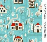 illustration city map. cartoon. ...   Shutterstock .eps vector #499961764