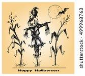 halloween vector collection....   Shutterstock .eps vector #499968763
