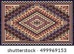 beige and brown mosaic navajo... | Shutterstock .eps vector #499969153