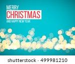 christmas lights  holiday... | Shutterstock .eps vector #499981210