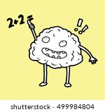 smart clever glad  brain trying ... | Shutterstock .eps vector #499984804