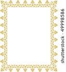 vector decorative frame | Shutterstock .eps vector #49998586
