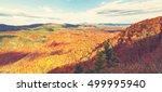 blue ridge mountains in autumn...   Shutterstock . vector #499995940