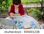 beautiful business working... | Shutterstock . vector #500001238
