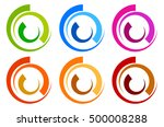 colorful circle logo  icon... | Shutterstock .eps vector #500008288