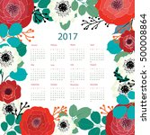 calendar templates with cutout... | Shutterstock .eps vector #500008864
