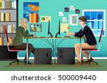 a vector illustration of... | Shutterstock .eps vector #500009440