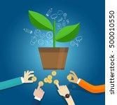 seed funding start up early... | Shutterstock .eps vector #500010550