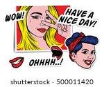 pop art creative fashion patch... | Shutterstock .eps vector #500011420
