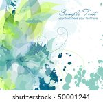 artistic flower background | Shutterstock .eps vector #50001241