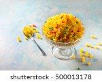 sweet boondi   an authentic... | Shutterstock . vector #500013178