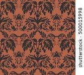vector damask pattern design ... | Shutterstock .eps vector #500015998