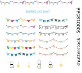 bunting and light elements | Shutterstock .eps vector #500018566